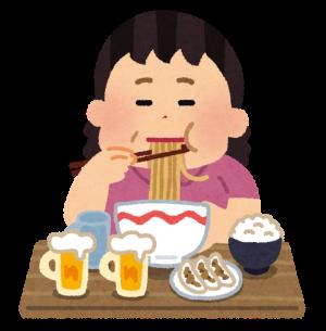 syokuji_tabesugi_woman-300